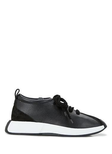 Giuseppe Zanotti Giuseppe Zanotti  Garnili Kadın Deri Sneaker 101624565 Siyah